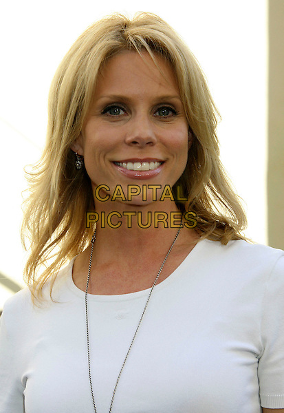 "CHERYL HINES.""Get Schooled"" Los Angeles Conference & Premiere held at Paramount Studios in Hollywood, California, USA. .September 8th, 2009 .headshot portrait white top necklace .CAP/ADM/MJ.©Michael Jade/AdMedia/Capital Pictures."