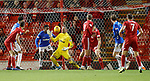 06.02.2019:Aberdeen v Rangers: Allan McGregor with a reflex save from close range