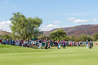 Mike Lorenzo-Vera (FRA), Sergio Garcia (ESP) and Mikko Korhoenen (FIN) during the 2nd round at the Nedbank Golf Challenge hosted by Gary Player,  Gary Player country Club, Sun City, Rustenburg, South Africa. 09/11/2018 <br /> Picture: Golffile | Tyrone Winfield<br /> <br /> <br /> All photo usage must carry mandatory copyright credit (&copy; Golffile | Tyrone Winfield)