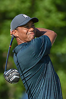 Tiger Woods (USA) watches his tee shot on 12 during 1st round of the 100th PGA Championship at Bellerive Country Cllub, St. Louis, Missouri. 8/9/2018.<br /> Picture: Golffile | Ken Murray<br /> <br /> All photo usage must carry mandatory copyright credit (© Golffile | Ken Murray)