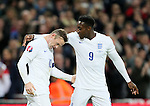 England's Wayne Rooney celebrates with Danny Welbeck<br /> <br /> - International European Qualifier - England vs Slovenia- Wembley Stadium - London - England - 15th November 2014  - Picture David Klein/Sportimage