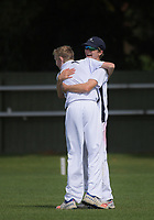 Arden Ongley celebrates catching PNBHS's Curtis Heaphy during the 2018 Junior NZ Secondary School Cricket Boys' Tournament match between St Andrew's College and Palmerston North Boys' High School at Fitzherbert Park in Palmerston North, New Zealand on Friday, 23 March 2018.. Photo: Dave Lintott / lintottphoto.co.nz