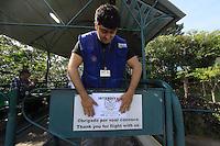 Rio de  Janeiro,28 de  maio de  2012 - Secretaria  de  meio Ambiente, interdita e INEA na  manhã  dessa segunda-feira (28) o heliponto do Morro da  Urca;Após notificações as  empresas que  atuam  no local .<br /> Guto Maia Brazil Photo Press
