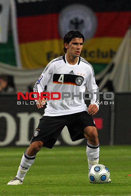 L&permil;nderspiel<br /> WM 2010 Qualifikatonsspiel Qualificationmatch Leipzig 28.03.2009 Zentralstadion Gruppe 4 Group Four <br /> <br /> Deutschland ( GER ) - Liechtenstein ( LIS ) 4:0 (2:0)<br /> <br /> Sedar Tasic (#4 VfB Stuttgart Deutsche Nationalmannschaft).<br /> <br /> Foto &copy; nph (  nordphoto  )<br />  *** Local Caption ***