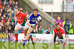 Eoin Brosnan Kerry in action against Andy Moran Mayo in the National Football League in Austin Stack Park on Sunday..