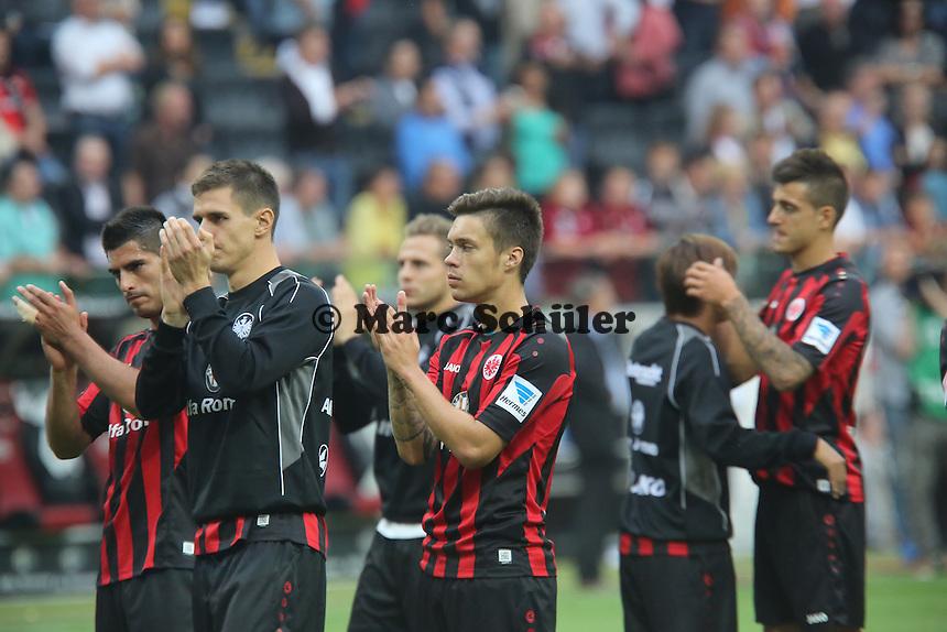 Enttaeuschung bei Eintracht Frankfurt nach der 1:2 Niederlage, Torschuetze Vaclav - Eintracht Frankfurt vs. Borussia Dortmund