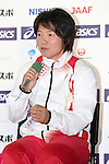Yuki Ebihara (JPN), <br /> JUNE 10, 2013 - Athletics : Athletics Japan National Team Press Conference for the IAAF World Championships 2013 Moscow at Akasaka Sacas Gallery in Tokyo, Japan. <br /> (Photo by AFLO SPORT)