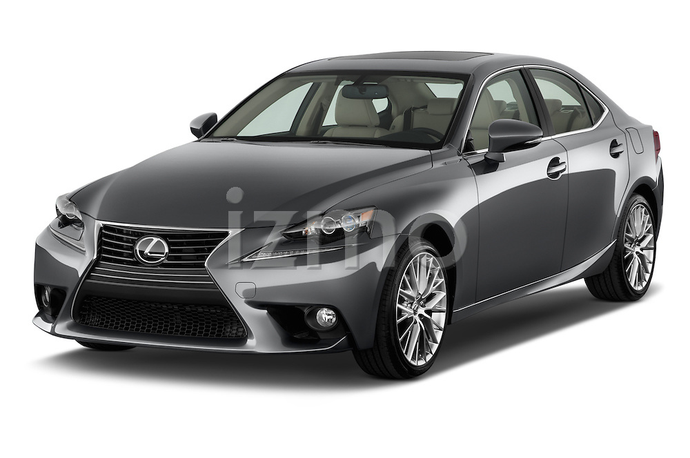Front three quarter view of a 2014 Lexus IS 250 Sedan