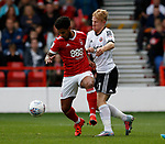 Mark Duffy of Sheffield Utd and Liam Birdcutt of Nottingham Forest during the Championship match at the City Ground Stadium, Nottingham. Picture date 30th September 2017. Picture credit should read: Simon Bellis/Sportimage