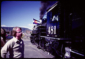 D&amp;RGW #481 K-36 - Durango Centennial Celebration 1981<br /> D&amp;RGW  Durango, CO  1981