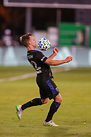 10th July 2020, Orlando, Florida, USA;  San Jose Earthquakes forward Tommy Thompson (22) stops the ball during the soccer match between the Seattle Sounders and the San Jose Earthquakes on July 10, 2020, at ESPN Wide World of Sports Complex in Orlando, FL.