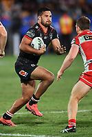 Peta Hiku.<br /> NRL Premiership rugby league. Vodafone Warriors v St George Illawarra. Mt Smart Stadium, Auckland, New Zealand. Friday 20 April 2018. &copy; Copyright photo: Andrew Cornaga / www.Photosport.nz