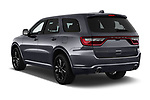 Car pictures of rear three quarter view of a 2018 Dodge Durango R/T 5 Door SUV angular rear