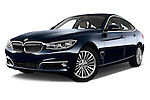 Low aggressive front three quarter view of a 2013 Bmw SERIES 3 Luxury 5 Door Hatchback 2WD