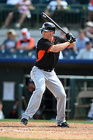Miami Marlins outfielder Brian Bogusevic (47) during a spring training game against the Houston Astros on March 21, 2014 at Osceola County Stadium in Kissimmee, Florida.  Miami defeated Houston 7-2.  (Mike Janes/Four Seam Images)