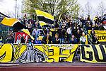 Uppsala 2014-05-01 Fotboll Svenska Cupen IK Sirius - IF Elfsborg :  <br /> IF Elfsborgs supporter &auml;r glada efter matchen<br /> (Foto: Kenta J&ouml;nsson) Nyckelord:  Svenska Cupen Cup Semifinal Semi Sirius IKS Elfsborg IFE supporter fans publik supporters jubel gl&auml;dje lycka glad happy