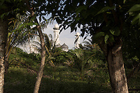 Indonesia - Sumatra - Aceh - Lampuuk - A detail of Masjid Rahmatullah mosque, the only building still standing in the area after the tsunami. Many people thought that the tsunami had been sent my god as a punishment, the fact that the mosques were still standing in a land razed to the ground helped reinforce this idea..