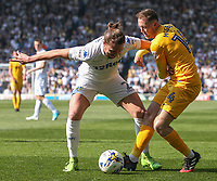 Preston North End's Aidan McGeady battles with Leeds United's Luke Ayling<br /> <br /> Photographer Alex Dodd/CameraSport<br /> <br /> The EFL Sky Bet Championship - Leeds United v Preston North End - Saturday 8th April 2017 - Elland Road - Leeds<br /> <br /> World Copyright &copy; 2017 CameraSport. All rights reserved. 43 Linden Ave. Countesthorpe. Leicester. England. LE8 5PG - Tel: +44 (0) 116 277 4147 - admin@camerasport.com - www.camerasport.com