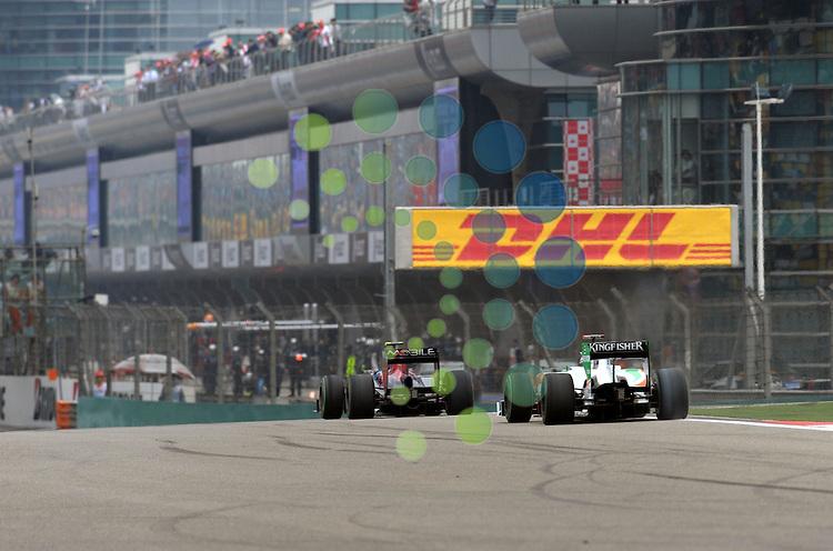 F1 GP of China, Shanghai 16.- 18. April 2010.Adrian Sutil (GER), Force India Formula One Team ..Hasan Bratic;Koblenzerstr.3;56412 Nentershausen;Tel.:0172-2733357;.hb-press-agency@t-online.de;http://www.uptodate-bildagentur.de;.Veroeffentlichung gem. AGB - Stand 09.2006; Foto ist Honorarpflichtig zzgl. 7% Ust.;Hasan Bratic,Koblenzerstr.3,Postfach 1117,56412 Nentershausen; Steuer-Nr.: 30 807 6032 6;Finanzamt Montabaur;  Nassauische Sparkasse Nentershausen; Konto 828017896, BLZ 510 500 15;SWIFT-BIC: NASS DE 55;IBAN: DE69 5105 0015 0828 0178 96; Belegexemplar erforderlich!..