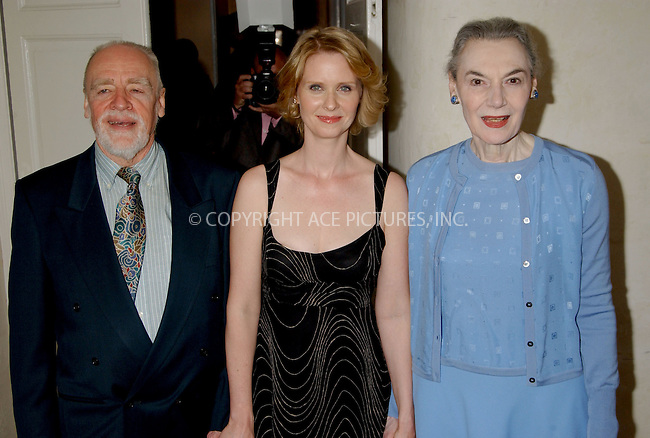 WWW.ACEPIXS.COM . . . . . ....NEW YORK, APRIL 20, 2006....Cynthia Nixon and Marian Seldes at the awards luncheon honoring Cynthia Nixon to benefit T. Schreiber Studio and the Leukemia Society held at 3 West Club. ....Please byline: KRISTIN CALLAHAN - ACEPIXS.COM.. . . . . . ..Ace Pictures, Inc:  ..(212) 243-8787 or (646) 679 0430..e-mail: picturedesk@acepixs.com..web: http://www.acepixs.com