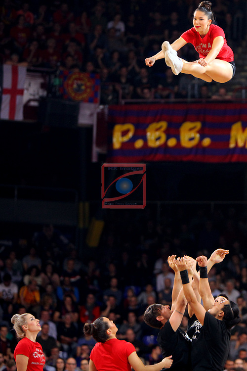 Turkish Airlines Euroleague 2018/2019. <br /> Regular Season-Round 24.<br /> FC Barcelona Lassa vs R. Madrid: 77-70. <br /> Dream Cheers.
