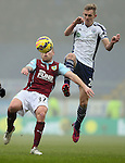 Scott Arfield of Burnley challenged by Darren Fletcher of West Bromwich Albion - Barclays Premier League - Burnley vs West Bromwich Albion - Turf Moor Stadium  - Burnley - England - 8th February 2015 - Picture Simon Bellis/Sportimage