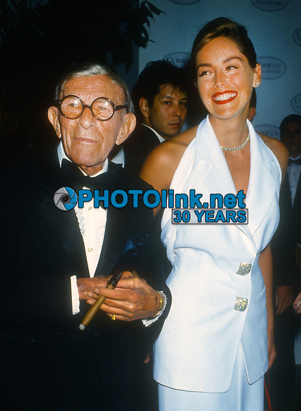 George Burns Sharon Stone<br /> 1993<br /> Photo By Michael Ferguson/PHOTOlink.net