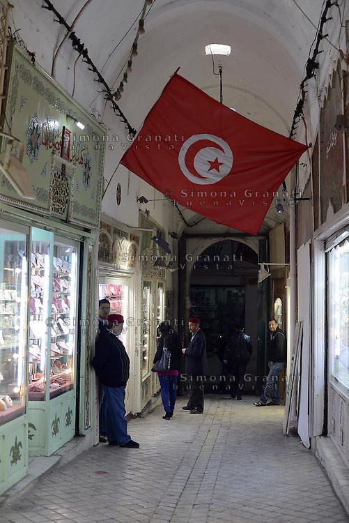 Tunisi, Gennaio 2015<br /> La Tunisia a 4 anni dalla rivoluzione che port&ograve; all'esilio il dittatore Ben Ali. <br /> Medina