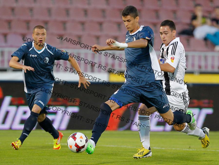 Fudbal Super liga season 2013-2014<br /> Partizan v Rad<br /> Lazar Cirkovic and Andrija Zivkovic (R)<br /> Beograd, 01.09.2013.<br /> foto: Srdjan Stevanovic/Starsportphoto &copy;