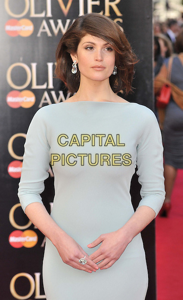 LONDON, ENGLAND - APRIL 13: Gemma Arterton attends the Olivier Awards 2014, Royal Opera House, Covent Garden, on Sunday April 13, 2014 in London, England, UK.<br /> CAP/CAN<br /> &copy;Can Nguyen/Capital Pictures