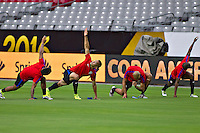 Glendale, AZ - Friday June 24, 2016: Bobby Wood of the United States during a training prior to the third place match of the Copa America Centenario at the University of Phoenix Stadium.<br /> Action photo during of the United States team training before the game against the selection of Colombia for third place in the America Cup Centenary 2016 at University of Phoenix Stadium<br /> <br /> Foto de accion durante el Entrenamiento de la Seleccion de Estados Unidos previo al partido contra la Seleccion de Colombia por el tercer lugar de la Copa America Centenario 2016, en el Estadio de la Universidad de Phoenix, en la foto: Bobby Wood  de USA<br /> <br /> <br /> 24/06/2016/MEXSPORT/Victor Posadas.