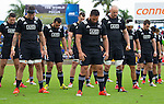 (L) Ben May, Elliot Dixon, Charlie Ngatai, Joe Royal, Hayden Triggs, Ash Dixon, Krt Baker. Maori All Blacks vs. Fiji. Suva. MAB's won 27-26. July 11, 2015. Photo: Marc Weakley