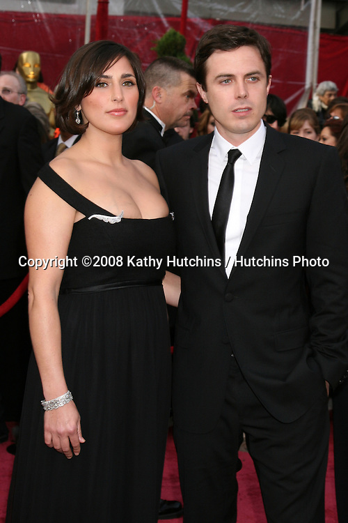 Casey Affleck & Wife Summer Phoenix.80th Academy Awards ( Oscars).Kodak Theater.Los Angeles, CA.February 24, 2008.©2008 Kathy Hutchins / Hutchins Photo.