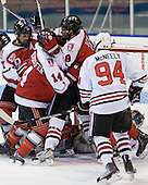- The visiting Rensselaer Polytechnic Institute Engineers tied their host, the Northeastern University Huskies, 2-2 (OT) on Friday, October 15, 2010, at Matthews Arena in Boston, MA.