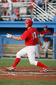 August 3rd 2008:  Shane Peterson of the Batavia Muckdogs, Class-A affiliate of the St. Louis Cardinals, during a game at Dwyer Stadium in Batavia, NY.  Photo by:  Mike Janes/Four Seam Images