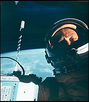 BNPS.co.uk (01202 558833)<br /> Pic: BloomsburyAuctions/BNPS<br /> <br /> One small spacewalk for a man...one giant leap for selfies.<br /> <br /> Out of this world - The worlds first selfie in orbit, taken by astonaut Buzz Aldrin while floating above the earth 51 years ago, has emerged for sale.<br /> <br /> The astronaut posed for the first ever self-portrait in space during the Gemini 12 mission in November 1966.<br /> <br /> Aldrin spent five and a half hours outside the spacecraft in three sorties during which he photographed star fields and also found the time to take this ground-breaking selfie.<br /> <br /> He lifted the visor of his helmet so his forehead and eyes are visible, with the blue curve of the earth providing a stunning background.<br /> <br /> Bloomsbury Auctions - Sept 14th - Est &pound;1200.