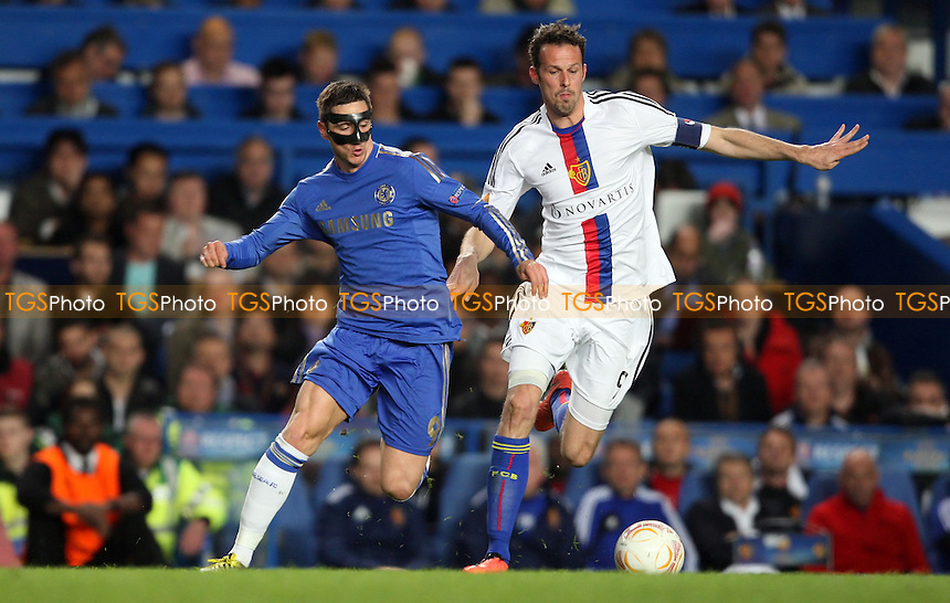 Fernando Torres of Chelsea and Marco Streller of Basel - Chelsea vs Basel, UEFA Europa League Semi-Final 2nd Leg at Stamford Bridge, Chelsea - 02/05/13 - MANDATORY CREDIT: Rob Newell/TGSPHOTO - Self billing applies where appropriate - 0845 094 6026 - contact@tgsphoto.co.uk - NO UNPAID USE.