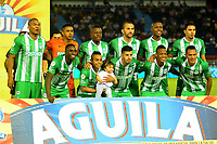 BARRANQUILLA-COLOMBIA, 12-05-2019: Jugadores de Atlético Nacional, posan para una foto, antes de partido entre Atlético Junior y Atlético Nacional, de la fecha 1 de los cuadrangulares semifinales por la Liga Águila I 2019, jugado en el estadio Metropolitano Roberto Meléndez de la ciudad de Barranquilla. / Players of Atlético Nacional, pose for a photo, prior a match between Atletico Junior and Atletico Nacional, of the 1st date of the semifinals quarters for the Aguila Leguaje I 2019 played at the Metropolitano Roberto Melendez Stadium in Barranquilla city, Photo: VizzorImage / Alfonso Cervantes / Cont.