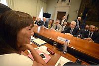 Roma, 3 Luglio 2012.Palazzo Chigi.Il Governo incontra gli enti locali per la Spending review.Renata Polverini, presidente regione Lazio