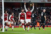 Soccer Football - Carabao Cup Quarter Final - Arsenal vs West Ham United - Emirates Stadium, London, Britain - December 19, 2017   Arsenal's Danny Welbeck celebrates scoring their first goal     <br /> Premier League 2017/2018 <br /> Foto Panoramic / Insidefoto