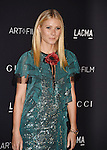 LOS ANGELES, CA - NOVEMBER 07: Actress Gwyneth Paltrow wearing Gucci attends LACMA 2015 Art+Film Gala Honoring James Turrell and Alejandro G Iñárritu, Presented by Gucci at LACMA on November 7, 2015 in Los Angeles, California.