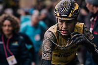 post-race face<br /> <br /> 12th Strade Bianche 2018<br /> Siena &gt; Siena: 184km (ITALY)