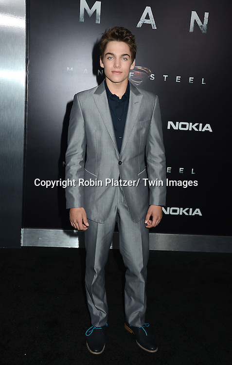 """Dylan Sprayberry attends the World Premiere of """"Man of Steel"""" on June 10, 2013 at Alice Tully Hall in New York"""