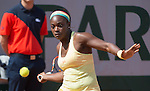 Sloane Stephens, (USA) defeats Ekaterina Makarova (RUS) 6-3, 6-4 at  Roland Garros being played at Stade Roland Garros in Paris, France on May 31, 2014