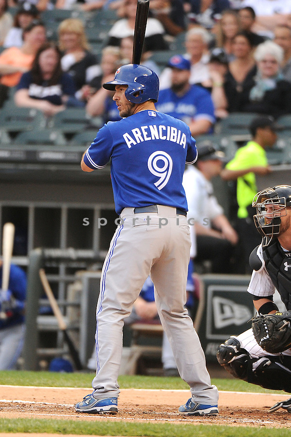 Toronto Blue Jays JP Arencibia (9) during a game against the Chicago White Sox on June 11, 2013 at US Cellular Field in Chicago, IL. The Blue Jays beat the White Sox 7-5.
