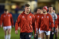 Tom Savage of Gloucester Rugby looks on prior to the match. Premiership Rugby Cup match, between Bath Rugby and Gloucester Rugby on February 3, 2019 at the Recreation Ground in Bath, England. Photo by: Patrick Khachfe / Onside Images