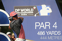 Rafa Cabrera Bello (ESP) on the 16th tee during the 2nd round of the DP World Tour Championship, Jumeirah Golf Estates, Dubai, United Arab Emirates. 16/11/2018<br /> Picture: Golffile | Fran Caffrey<br /> <br /> <br /> All photo usage must carry mandatory copyright credit (© Golffile | Fran Caffrey)