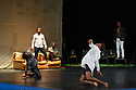 "Faso Danse Theatre/ Serge Aime Coulibaly presents ""Kalakuta Republik"", choreographed by Aerge Aime Coulibaly, at the Royal Lyceum Theatre, as part of the Edinburgh International Festival.  The dancers are: Marion Alzieu, Serge Aime Coulabily, Adonis Nebie, Sayouba Segue, Ahmend Soura, Ida Faho. Picture shows:Adonis Nebie, Sayouba Segue, Ahmend Soura, Ida Faho, Serge Aime Coulibaly."