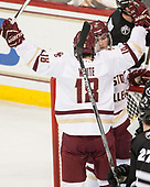 Overturned - Colin White (BC - 18), JD Dudek (BC - 15) - The Boston College Eagles defeated the visiting Providence College Friars 3-1 on Friday, October 28, 2016, at Kelley Rink in Conte Forum in Chestnut Hill, Massachusetts.The Boston College Eagles defeated the visiting Providence College Friars 3-1 on Friday, October 28, 2016, at Kelley Rink in Conte Forum in Chestnut Hill, Massachusetts.