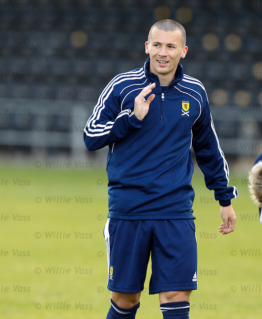 Paul Caddis at Scotland u21 training